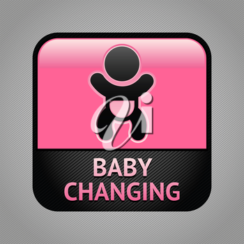 Baby changing facilities room symbol, public information sign