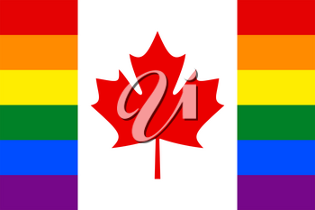 Canadian Gay vector flag or LGBT
