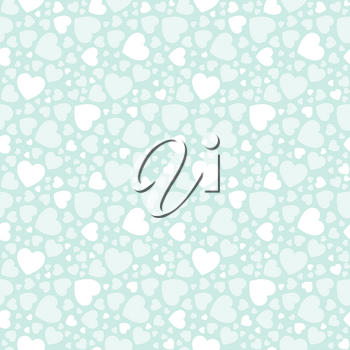 Holiday background with white love hearts