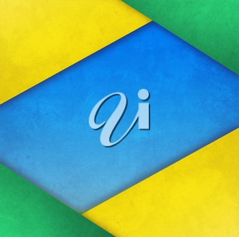 Bright abstract background in Brazilian colors.