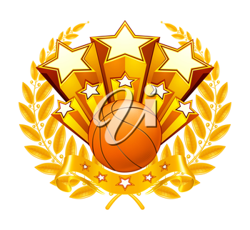 Basketball Emblem, vector