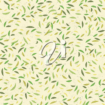 Green leaves seamless pattern. Vector
