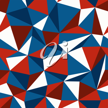 American Patriotic Themed Colors Triangle Seamless Pattern