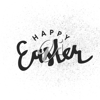 Happy Easter calligraphy with texture effect. Holiday greetings logotype. Hand drawn vector lettering. letters on white background. BEaster greetings illustration