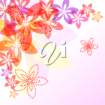 Abstract decorative floral background with a place for your text