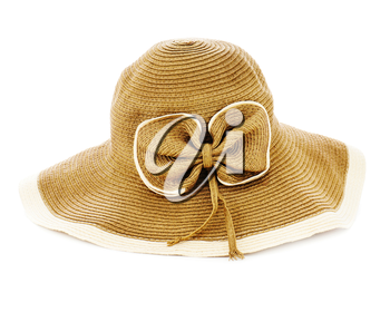 Summer hat isolated on white background. Closeup.
