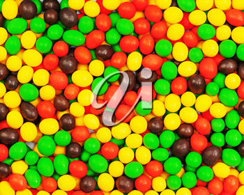 Multi colored candies for use as  background. Closeup.