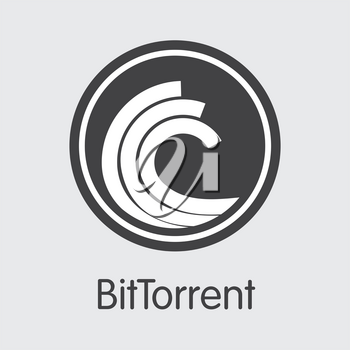 BTT - Bittorrent. The Logo or Emblem of Money, Market Emblem, ICOs Coins and Tokens Icon.