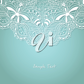 Royalty Free Clipart Image of a Lace Background