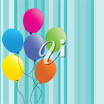Festive background with balloons