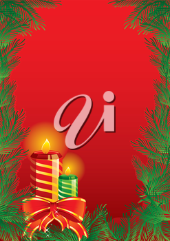 Vector illustration of Christmas candles