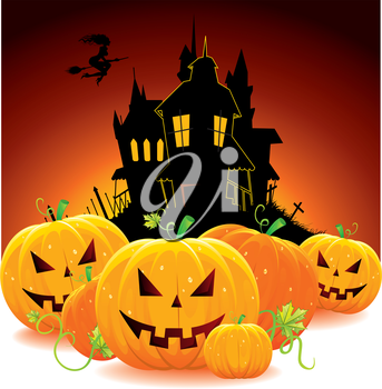 Halloween dark back, vector illustration