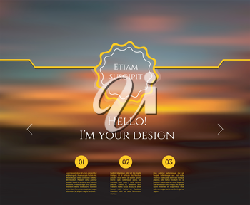 Vector illustration of Blurred web design template