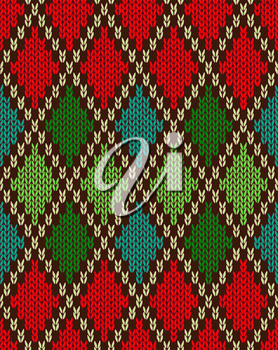 Royalty Free Clipart Image of a Diamond Knit Pattern