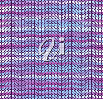 Style Seamless Knitted Pattern. Blue Pink White Color Illustration from my large Collection of Samples of knitted Fabrics