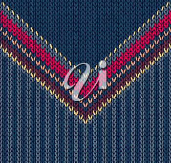 Fashion Abstract Background, Vector Drawing Handsome Striped Neck Sweater, Seamless Pattern