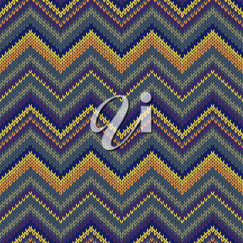 Knit Vector Seamless Pattern. Fashion Color Swatch