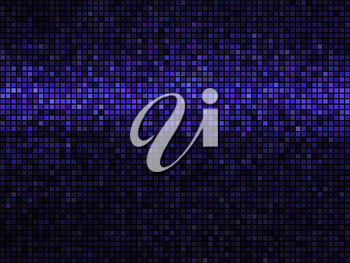 Abstract background. Square pixel mosaic. Lights vivid blue violet disco texture