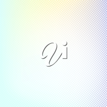 Halftone background. Light blue green lilac white and yellow color square shape banner