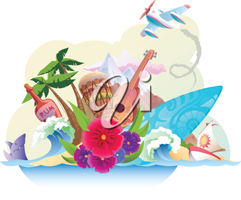 The tropical island with its music, surfing and the carefree lifestyle. 