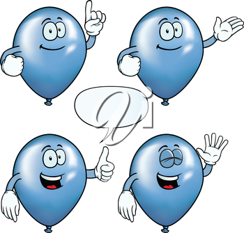 Royalty Free Clipart Image of Happy Balloons