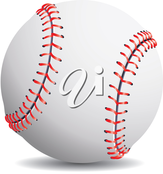Royalty Free Clipart Image of a Baseball