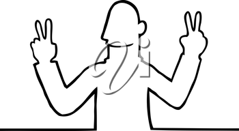 Royalty Free Clipart Image of a Peaceful Man