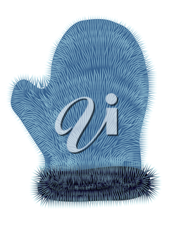 mitten isolated on a white background. 10 EPS