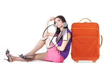 Image of young woman thinking about vacation