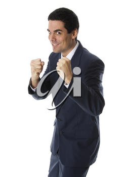 man with fists up ready for a fight