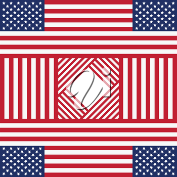 Patriotic USA background in style of american flag