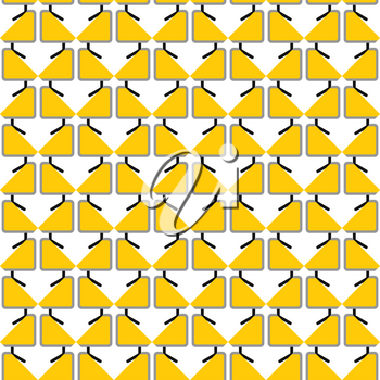 Vector seamless pattern texture background with geometric shapes, colored in yellow, black, grey and white colors.