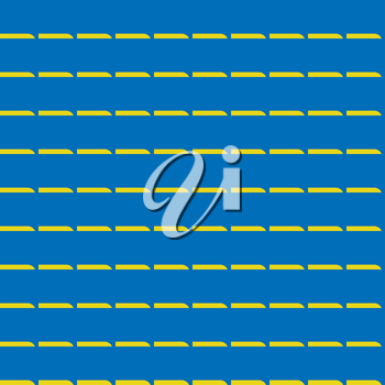 Vector seamless pattern texture background with geometric shapes, colored in blue and yellow colors.