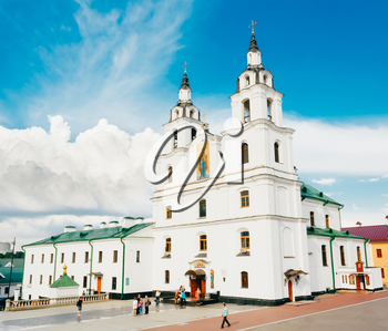 MINSK - JUN 2: The cathedral of Holy Spirit in Minsk - the main Orthodox church of Belarus and symbol of capital June 2, 2014 in Minsk, Belarus.