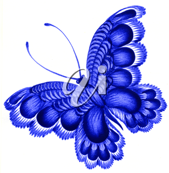 Royalty Free Clipart Image of a Decorative Butterfly