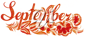 Royalty Free Clipart Image of September
