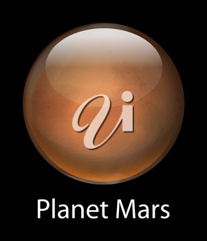 Illustration of the planet Mars