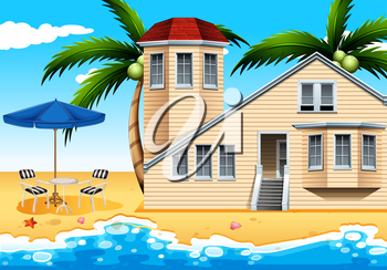 A relaxing vacation house at the beach