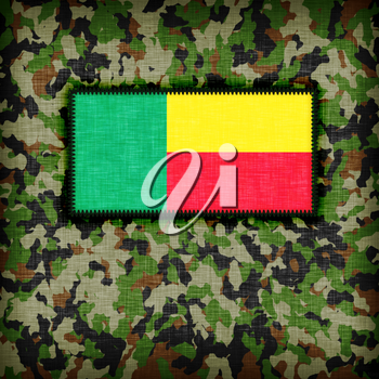 Amy camouflage uniform with flag on it, Benin