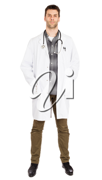 Male doctor, concept of healthcare and medicine - Isolated on white