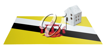 Small house on a flag - Living or migrating to Brunei