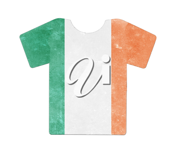 Simple t-shirt, flithy and vintage look, isolated on white - Ireland