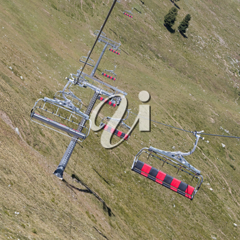 Ski lift cable booth or car, Austria in summer