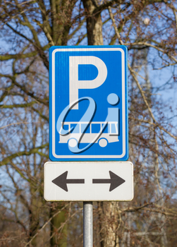 Coach parking only sign in the Netherlands