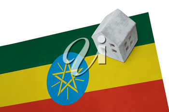 Small house on a flag - Living or migrating to Ethiopia