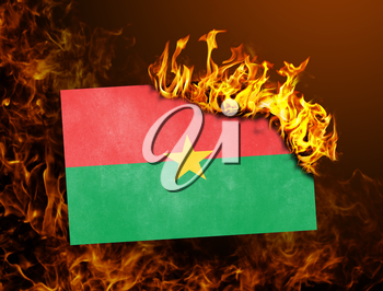 Flag burning - concept of war or crisis - Burkina Faso