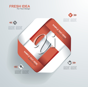 Modern Design template.Use for infographics,numbered banners,web design.
