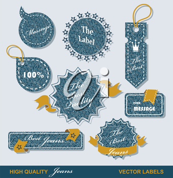 Vintage Styled Premium Quality  Labels and Ribbons collection with black grungy design.