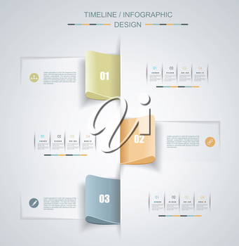 Minimal Timeline Infographic design. Can be used for workflow layout, diagram, number options, web design.