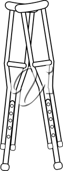 Clip Art Image of a Pair of Crutches